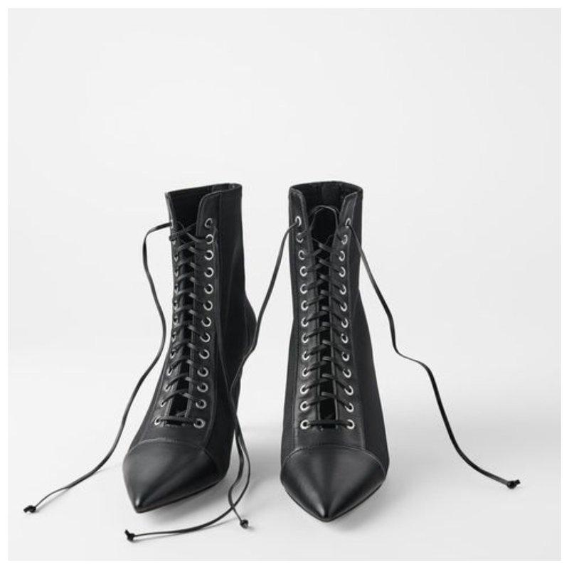 Ботинки с острым носиком