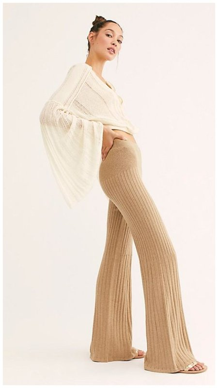 Модные брюки клеш теплые