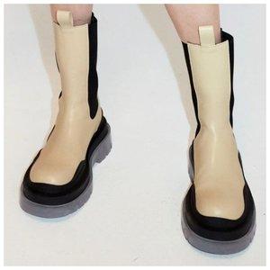 Цветные высокие ботинки челси фото