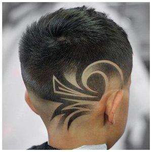 Необычный рисунок на волосах