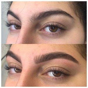 Коррекция бровей: фото до и после