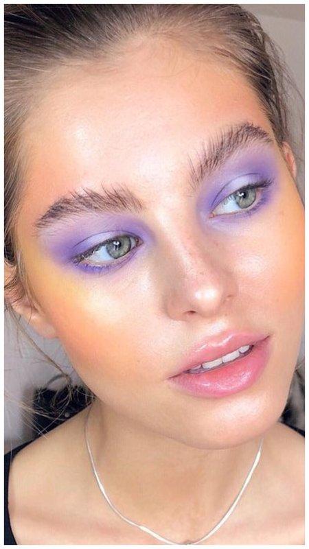 Лавандовый макияж глаз