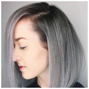 Серый оттенок волос фото