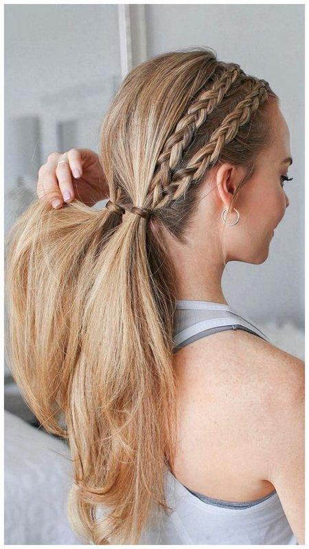 Прическа для длинных волос в стиле хиппи