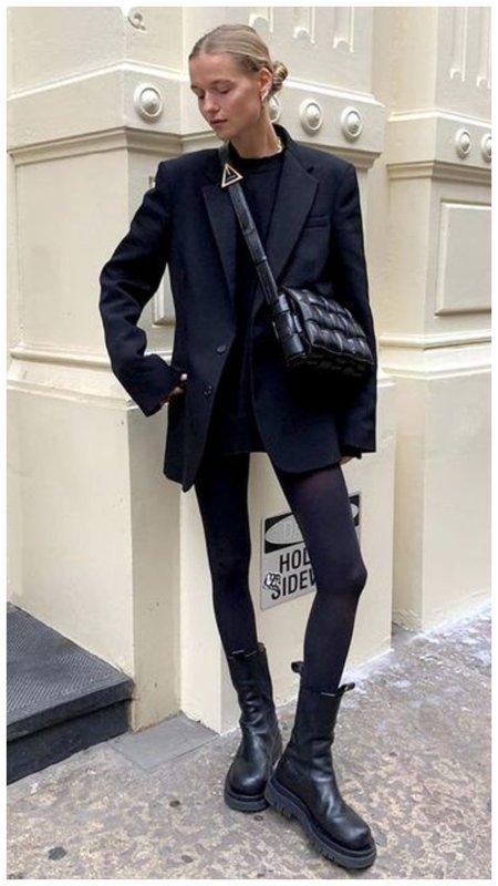 Грубые ботинки и пиджак в мужском стиле