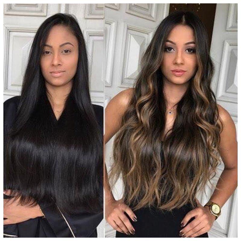 Окрашивание на темные волосы: до и результат