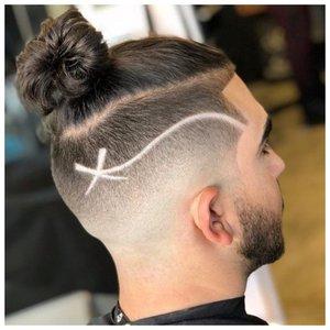 Прикольный узор на волосах