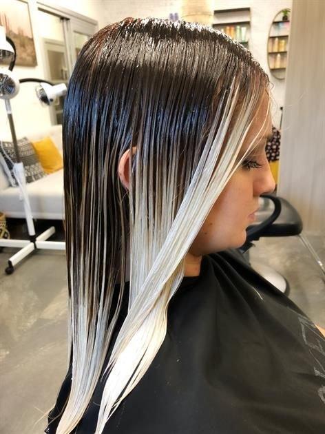 Финальный этап контуринга волос - тонирование