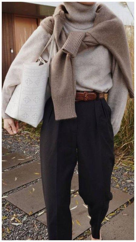свитер вместо шарфа фото пример