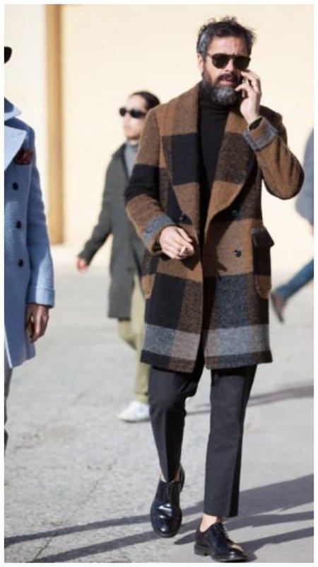 Мужское пальто в клетку
