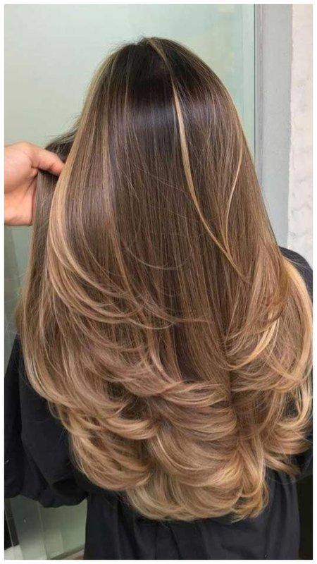Очень красивая стрижка для длинных волос