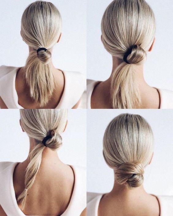 Как собрать волосы в модный пучок
