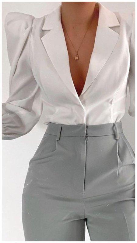 Необычная белая рубашка