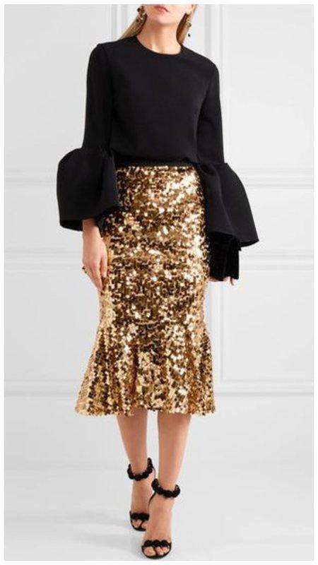 Золотая новогодняя юбка