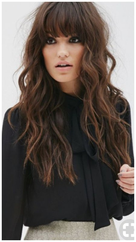 Каскад с челкой для длинных волос