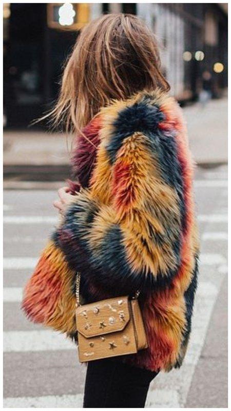 Разноцветная шуба