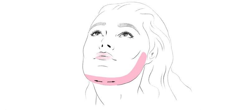 Как коеить тейп, чтобы скорректировать овал лица