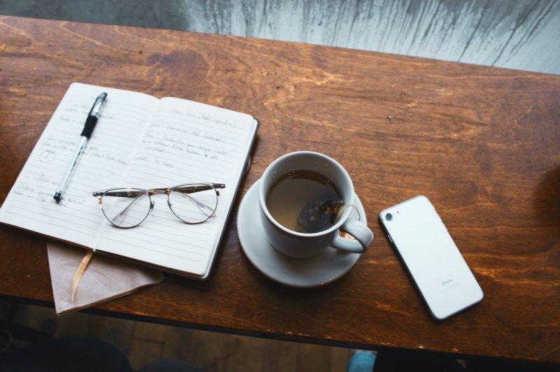 Кофе и ежедневник
