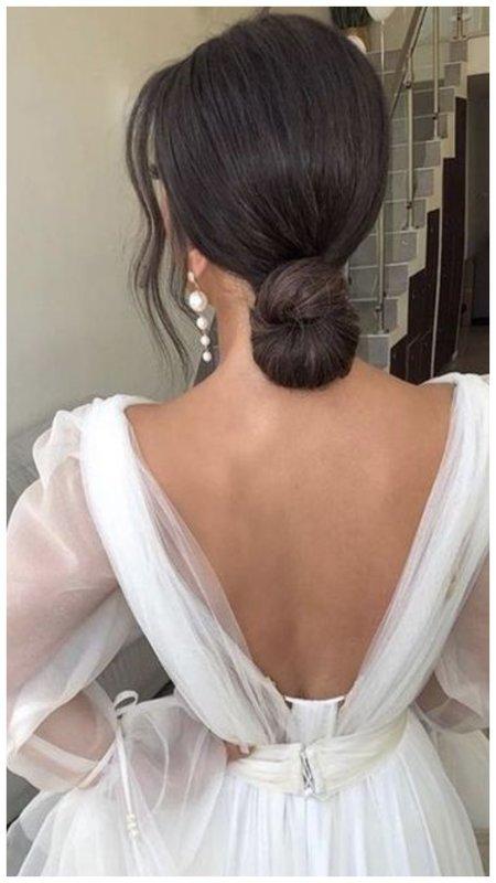 Элегантная прическа на свадьбу