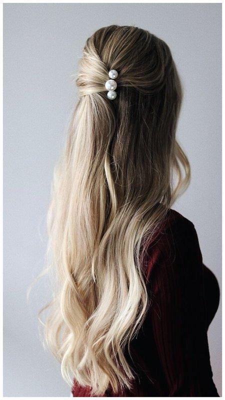 Красивая мальвинка для длинных волос
