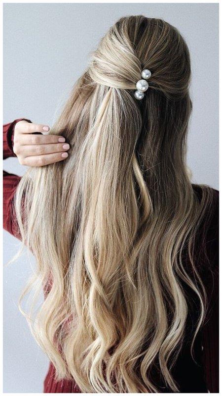 Как красиво собрать волосы на свадьбу - фото идея