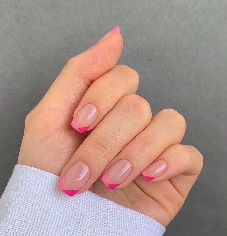 Необычный дизайн для квадратных ногтей