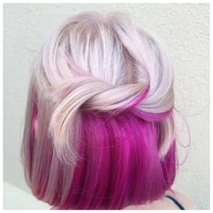Стильные розовые волосы