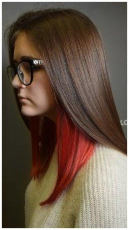 Прикольное окрашивание волос для девушки