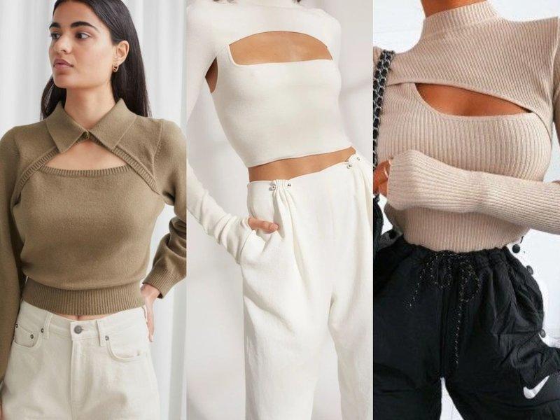 Модные трикотажные свитера весна 2021