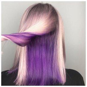 Светлые волосы со скрытым окрашиванием