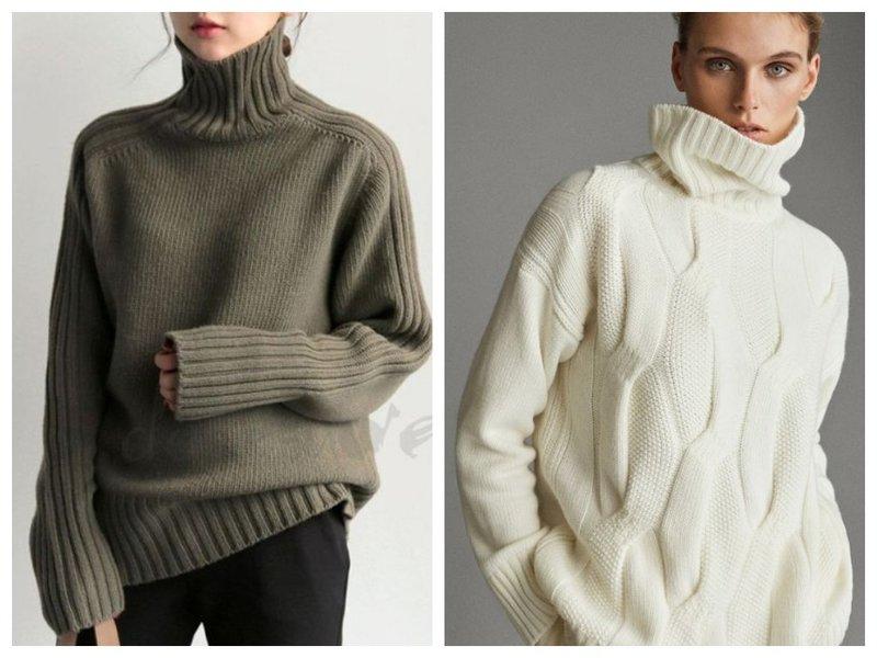 Как носить свитер с высоким воротом