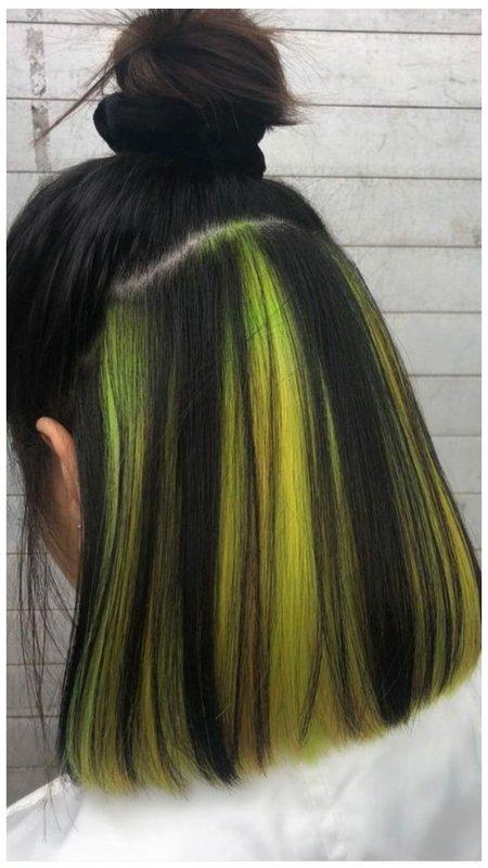 Окрашивание нижних волос фото