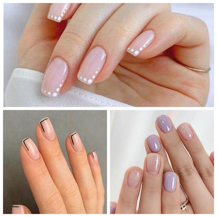 Дизайн для коротких квадратных ногтей