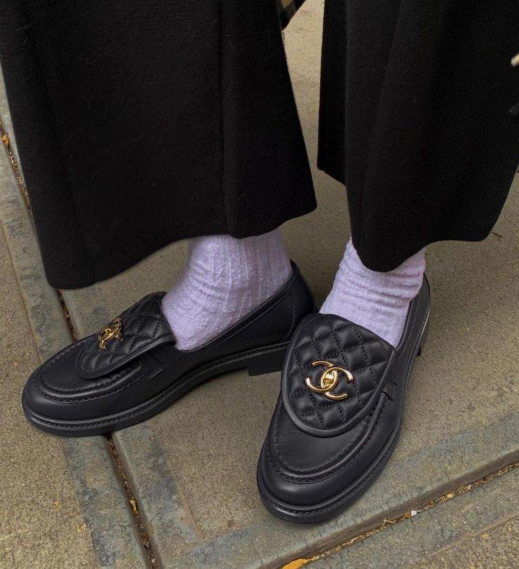 Лоферы и носки - тренд 2021 весна