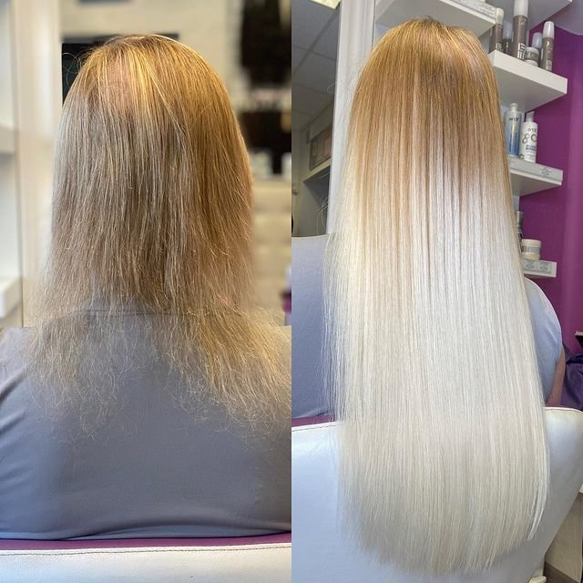 Загущение длинных волос до и после фото