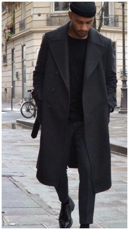 Стильный мужской наряд в черном цвете