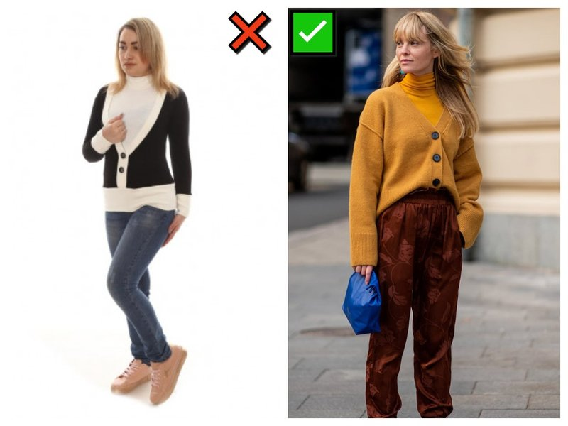 Как носить узкие вещи
