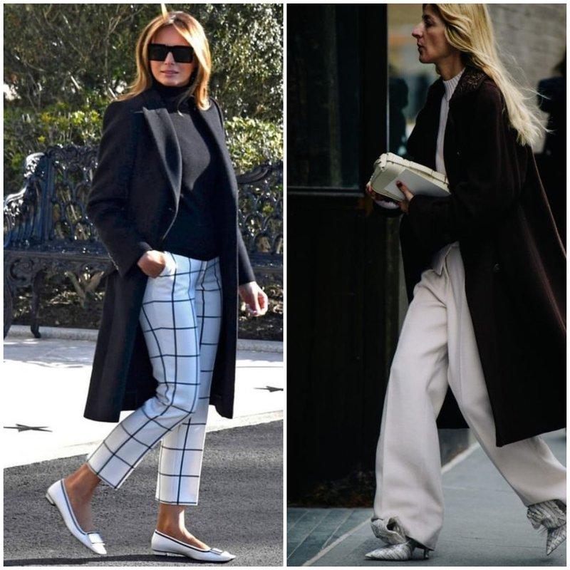 Как взрослой женщине носить белые брюки