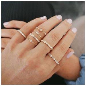 Популярные тонкие кольца из металла