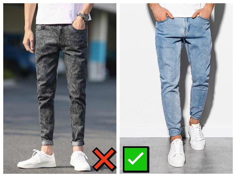 Очень узкие мужские джинсы