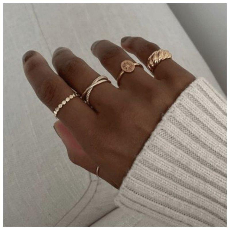 Самое модное золотое кольцо дизайн 2021