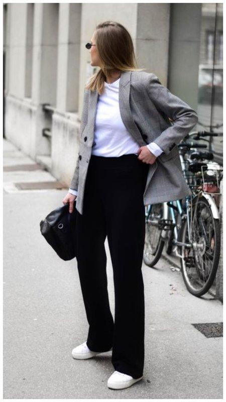 Черные удлиненные женские брюки