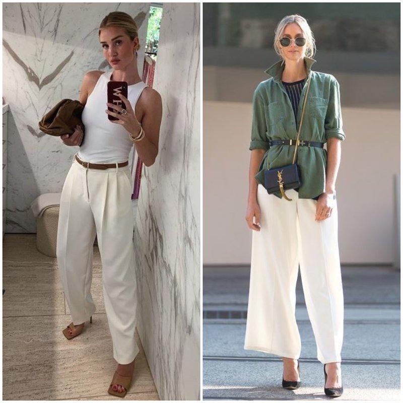 Стильные образы с белыми брюками