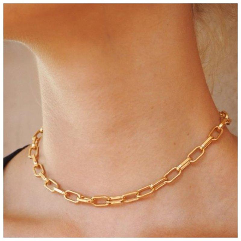 Золотая цепь плетение якорное
