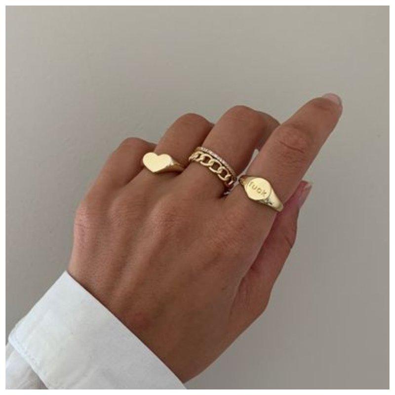 Модные золотые кольца 2021