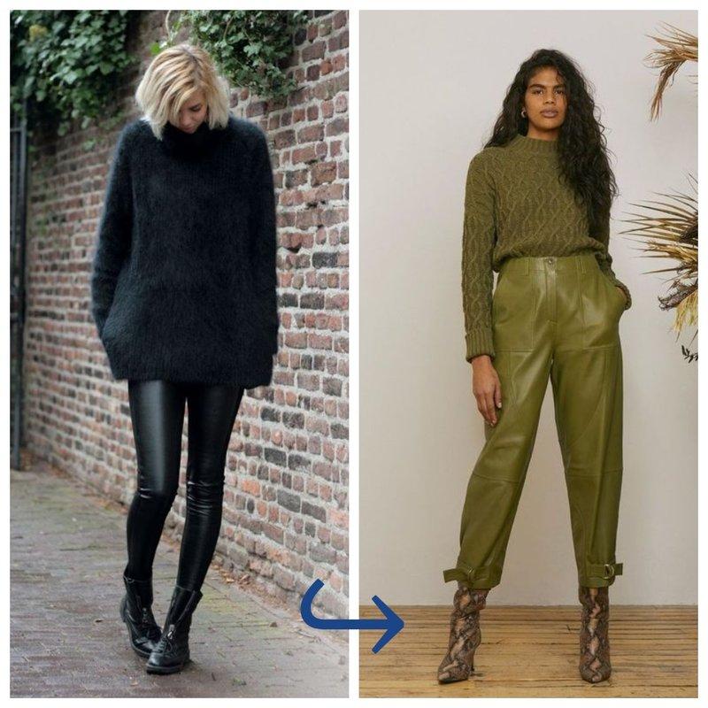 Выбираем кожаные брюки