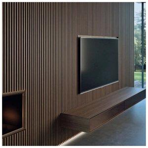 Дизайн для стены с деревянными панелями