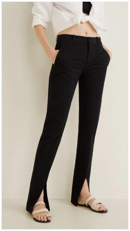 Классические черные брюки с разрезами