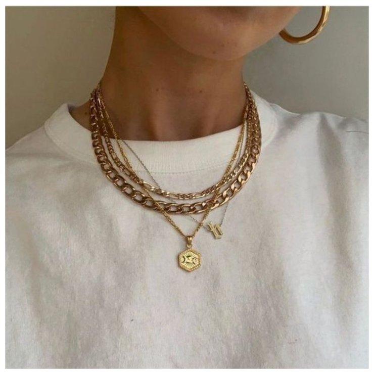 Модные золотые цепи