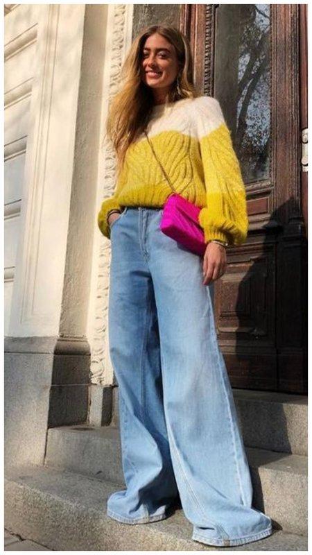 Очень широкие джинсы клеш